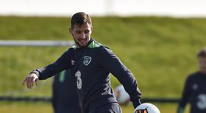 Conor Hourihane of the Republic of Ireland during squad training at FAI National Training Centre, in Abbotstown, Co. Dublin. (Photo By David Maher/Sportsfile via Getty Images)