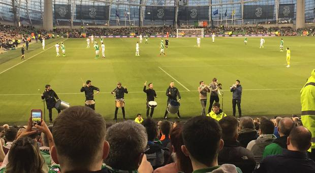 The Aviva Stadium brass band. (Picture credit: Cathal McMahon)