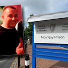 Thomas Fox, inset, was stabbed in Mountjoy Prison, where he is being held after being charged with the murder of Gareth Hutch