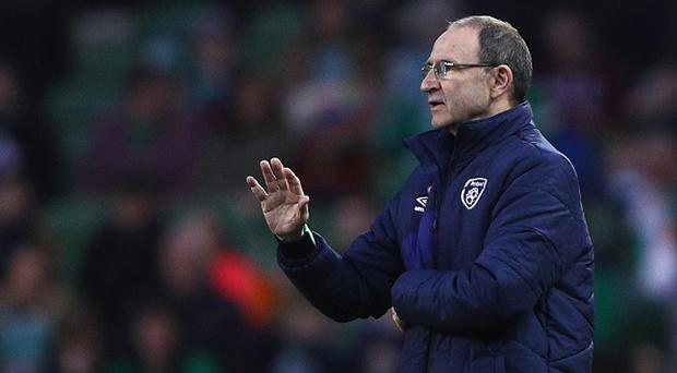 DUBLIN, IRELAND - MARCH 28: Martin O'Neill, coach of Republic of Ireland gives instructions during the International Friendly match between Republic of Ireland and Iceland at Aviva Stadium on March 28, 2017 in Dublin, Ireland. (Photo by Ian Walton/Getty Images)