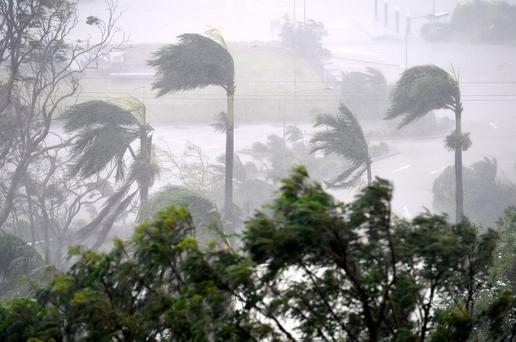 Cyclone Debbie hits at Airlie Beach, near Townsville, Australia. Photo: Reuters