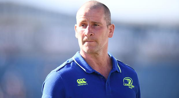 Dublin , Ireland - 25 March 2017; Leinster senior coach Stuart Lancaster during the Guinness PRO12 Round 18 game between Leinster and Cardiff Blues at RDS Arena in Ballsbridge, Dublin. (Photo By Stephen McCarthy/Sportsfile via Getty Images)