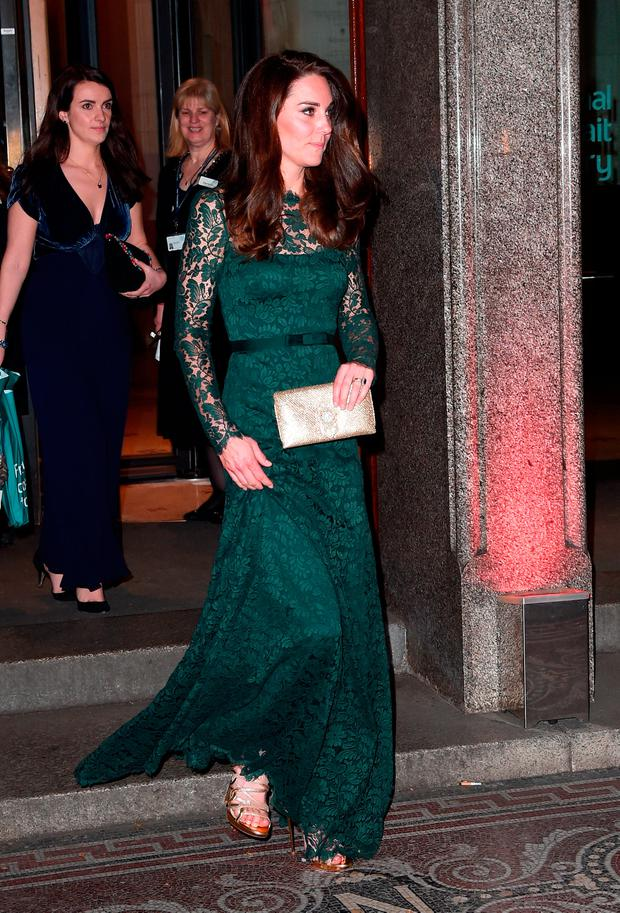 Catherine, Duchess of Cambridge departs the Portrait Gala 2017 at the National Portrait Gallery on March 28, 2017 in London, England. (Photo by Eamonn M. McCormack/Getty Images)