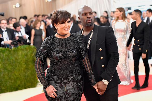 Kris Jenner (L) and Corey Gamble attend the