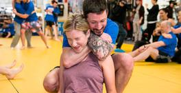Independent.ie's Amy Mulvaney pictured during a training session with SBG Gym owner John Kavanagh