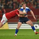 27 December 2015; Luke Fitzgerald, Leinster, is tackled by John Ryan, Munster. Guinness PRO12, Round 10, Munster v Leinster. Thomond Park, Limerick. Picture credit: Stephen McCarthy / SPORTSFILE (Photo by Sportsfile/Corbis via Getty Images)