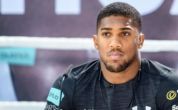 b6916241037 Anthony Joshua during the press conference with Wladimir Klitschko at RTL  media group mall in Cologne
