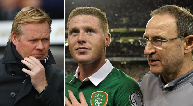Ronald Koeman is not pleased with James McCarthy and Martin O'Neill
