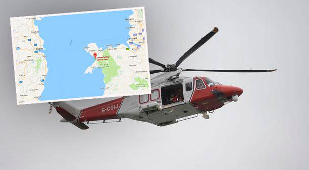 The search is focusing on the area between north Wales and Dublin