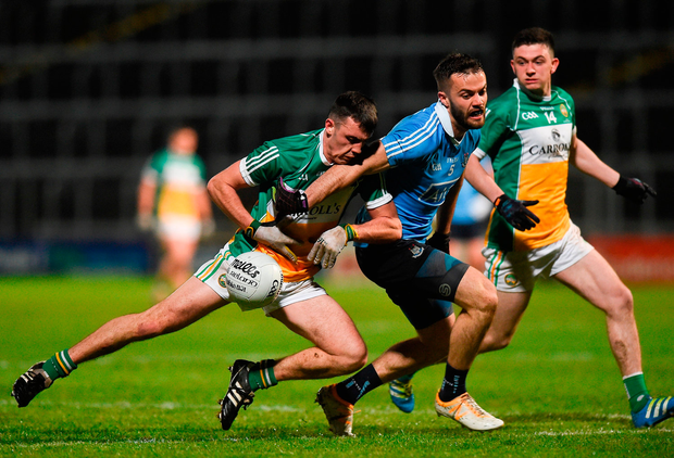 Colm Doyle of Offaly in action against Declan Monaghan of Dublin. Photo by David Maher/Sportsfile