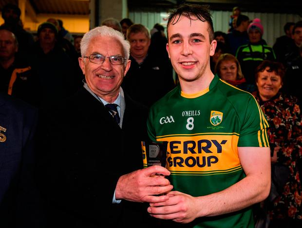 Andrew Barry excelled at midfield. Photo by Stephen McCarthy/Sportsfile