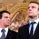 France's former prime minister Manuel Valls (left) endorsed the presidential bid of centrist Emmanuel Macron yesterday, the most high-profile Socialist to back the ex-banker over the party's nominee. Photo: Getty Images