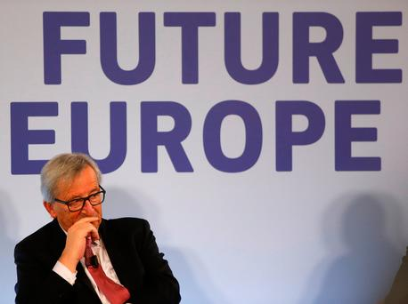 European Commission President Jean-Claude Juncker takes part in a public dialogue meeting on 'The Future of Europe' in light of Brexit in Malta yesterday Picture: Reuters