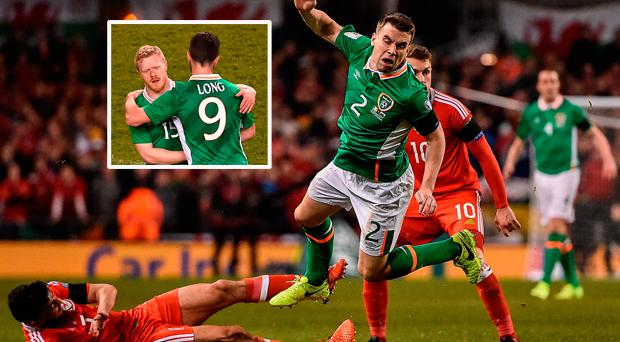 Taylor tackle on Coleman and (inset) Horgan was a positive