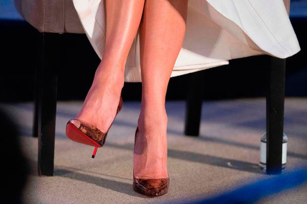 First Lady Melania Trump's shoes as she honors International Women of  Courage during a ceremony at