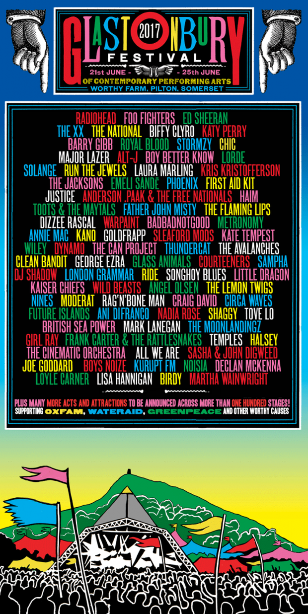 Glastonbury line-up