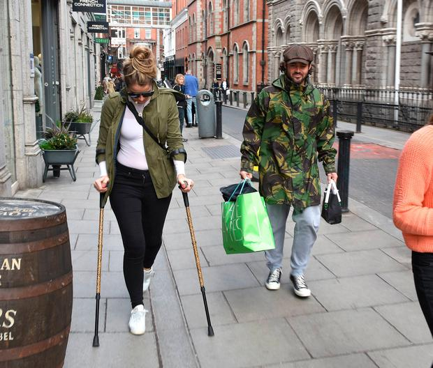 Vogue Williams spotted walking with boyfriend Spencer Matthews on Dublin's Coppinger Row