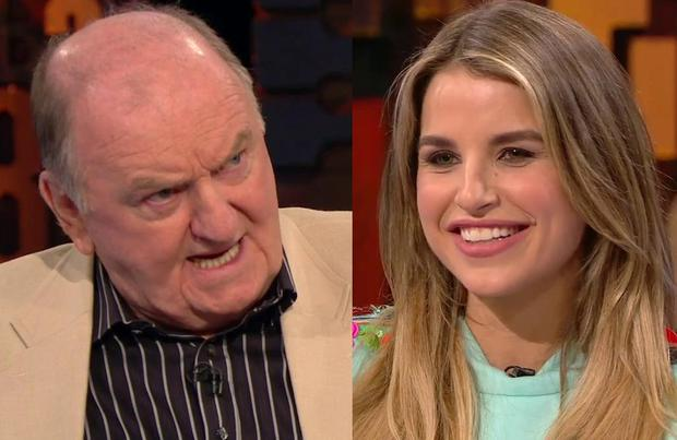 George Hook, left, and Vogue Williams, right on Cutting Edge