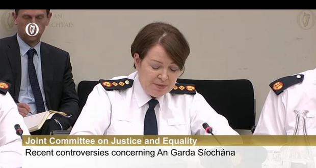 Noirin O'Sullivan addresses the justice committee