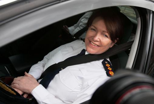 Garda Commissioner Noirin O'Sullivan arrives for a Justice and Equality Committee meeting on recent controversies concerning An Garda Siochana at Leinster House, Dublin. Photo: Gareth Chaney Collins