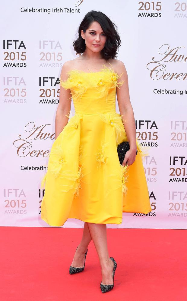 Sarah Greene at the IFTA Awards 2015 at The Mansion House