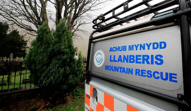 A vehicle parked outside the Llanberis Mountain Rescue station in the Snowdonia mountain range in north Wales (Image: Peter Byrne/PA Wire)