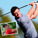 Rory McIlroy and (inset) Spanish youngster Jon Rahm