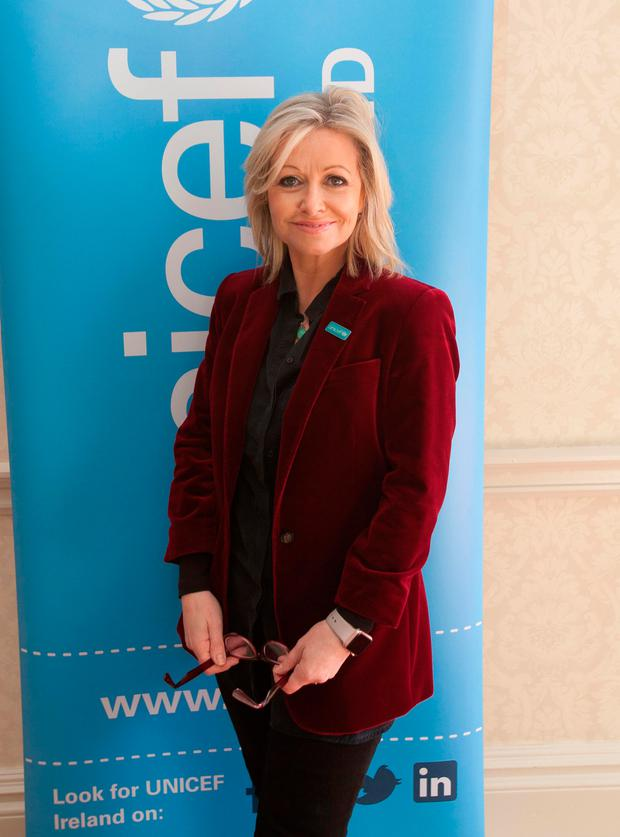 UNICEF Ambassador Cathy Kelly at UNICEF's Mother's Day lunch at the Shelbourne Hotel. Picture: Gareth Chaney/Collins