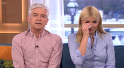 Holly Willoughby tried to hold back tears on This Morning