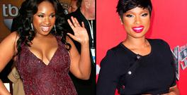 Jennifer Hudson in 2007, left, and in 2017, right