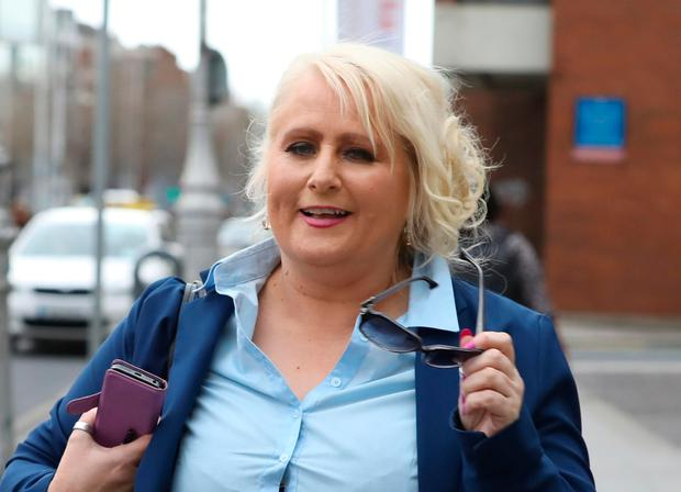 Annette O'Connor, (48) of Santry, Dublin pictured leaving the Four Courts after a High Court action.Pic: Collins Courts