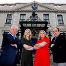 Pictured here Stephen Vernon, M.D., Green Properties; Laura Lynch, Head of Youth Banking, Bank of Ireland; Siobhan Daly; Senior Supply Chain Specialist, Jazz Pharmaceutical and Judging Panel Chair, John Cahill, Assistant Chief Executive, Foróige. (Maxwells)