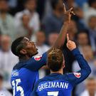 Antoine Griezmann (R) and Paul Pogba celebrate during Euro 2016. Photo: AFP/Getty Images
