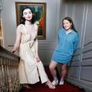Caoimhe Hill with model Sarah Tansey wearing her winning design Photo: Leon Farrell/Photocall Ireland