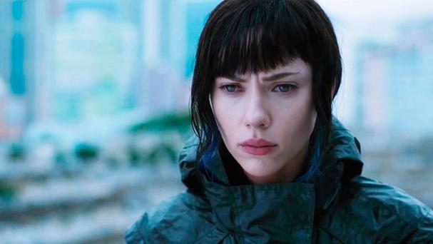Sleepy charisma: Johansson in her new film, Ghost in the Shell