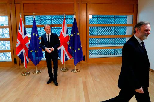 European Union takes tough stance on May's Brexit demands