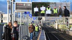 The spillover pickets have caused travel delays for thousands