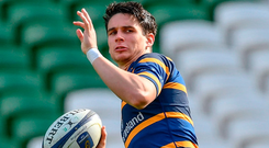 Joey Carbery will start at full-back today for Leinster against Wasps. Photo: Ramsey Cardy/Sportsfile
