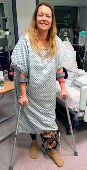 Melissa Cochran, a victim of the Westminster terror attacks whose family have released photos of her recovery. Photo: PA