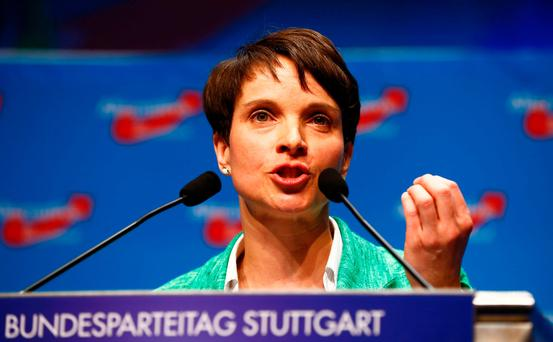 Frauke Petry of the Alternative for Germany (AfD) party. Photo: Reuters
