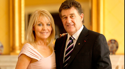 Jackie Lavin and Bill Cullen pictured together in 2010. Photo: Gerry Mooney