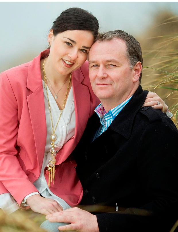 Daithi O'Se and his wife Rita Talty. Photo: Gerry Mooney