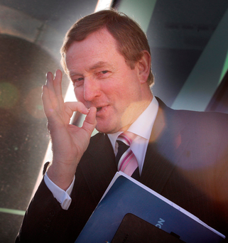 Still here: Enda Kenny Photo: Tom Burke