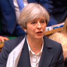 Risky: British Prime Minister Theresa May responds to questions after she announced in the House of Commons last Wednesday that she has triggered Article 50, firing the starting gun on a two-year countdown to the UK leaving the EU. She seems prepared to risk no deal being arranged before Britain walks away Photo: PA Wire
