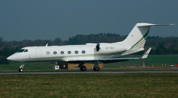 A Gulfstream IV jet similar to the government jet sold in 2015