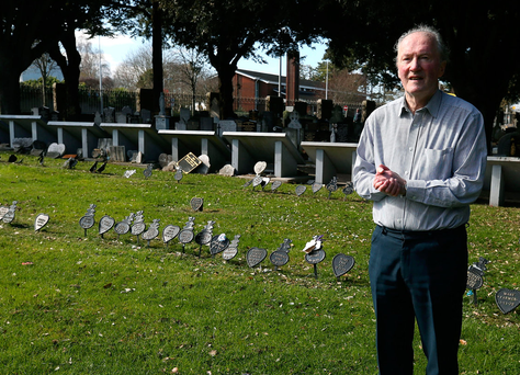 At the site of Z 303: Anthony J Jordan in Glasnevin Cemetery Photo: Damien Eagers