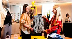 Paloma Feijoo and Louise Sweeney shopping in the Lululemon section in Brown Thomas on Dublin's Grafton Street. Picture by David Conachy