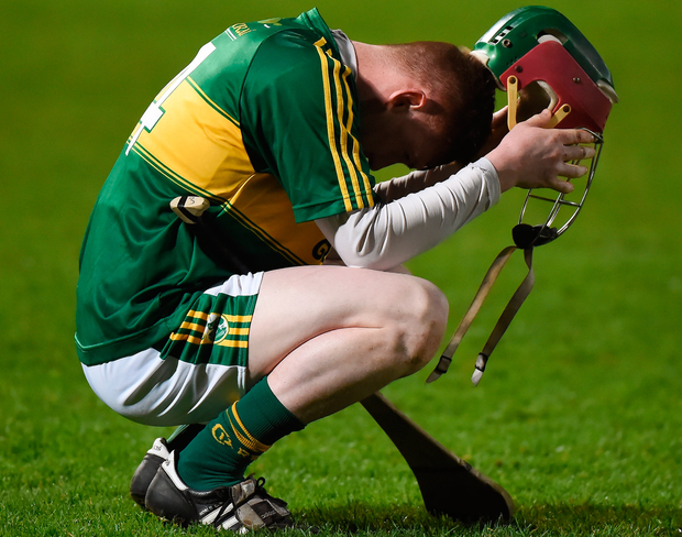 Kerry's Sean Weir shows his emotions after the final whistle. Photo: Sportsfile