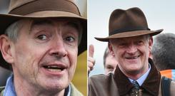 Michael O'Leary and Willie Mullins split last year in a dispute over fees