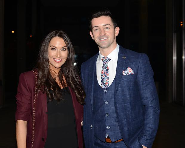 Denise Healy and Aidan O'Mahony arrive at RTE for the Ray Darcy Show Pictures: G. McDonnell / VIPIRELAND.COM